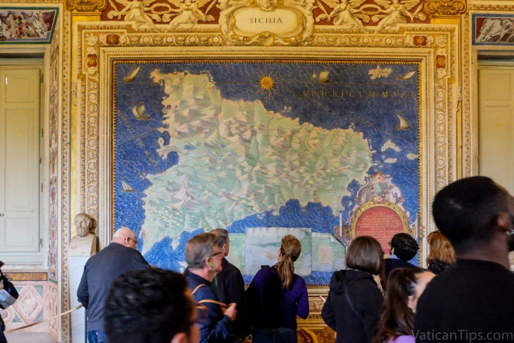 painted maps in Vatican