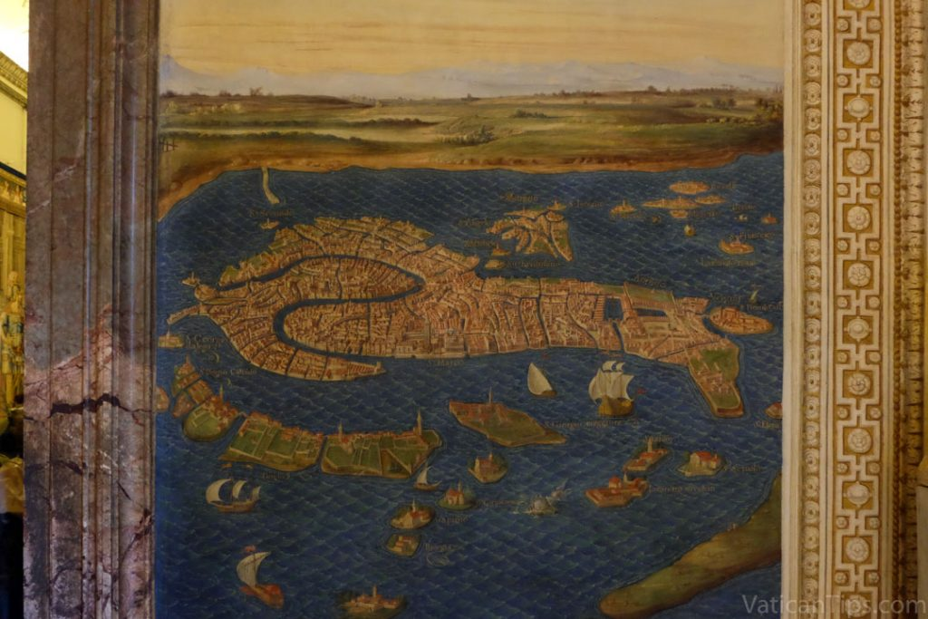painted map of Venice in the Vatican