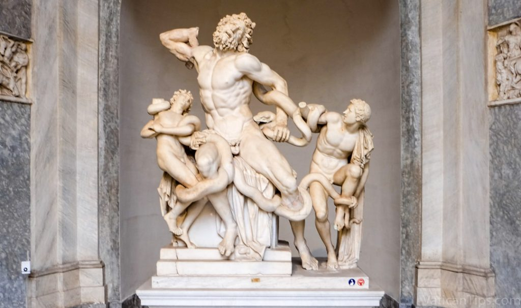 laocoon and sons with snakes