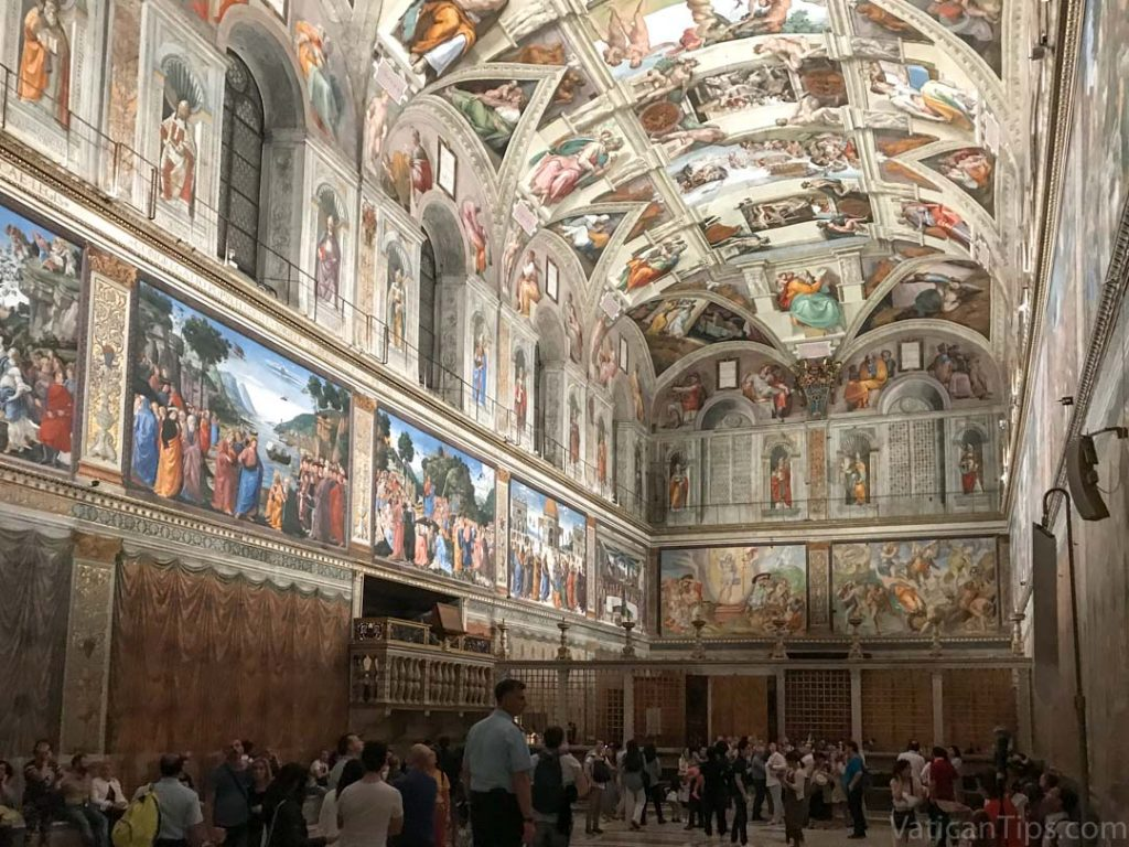 inside the sistine chapel