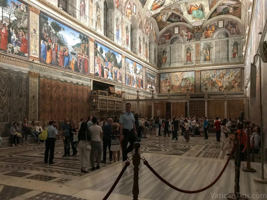 guard in the Sistine Chapel