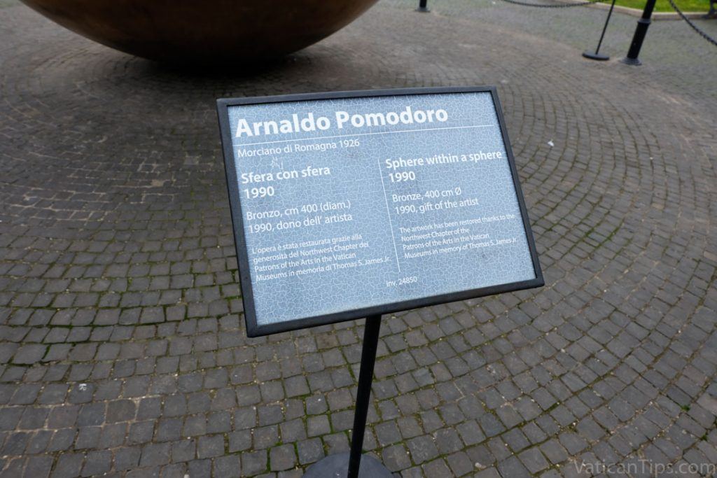 Arnaldo Pomodoro artwork sign