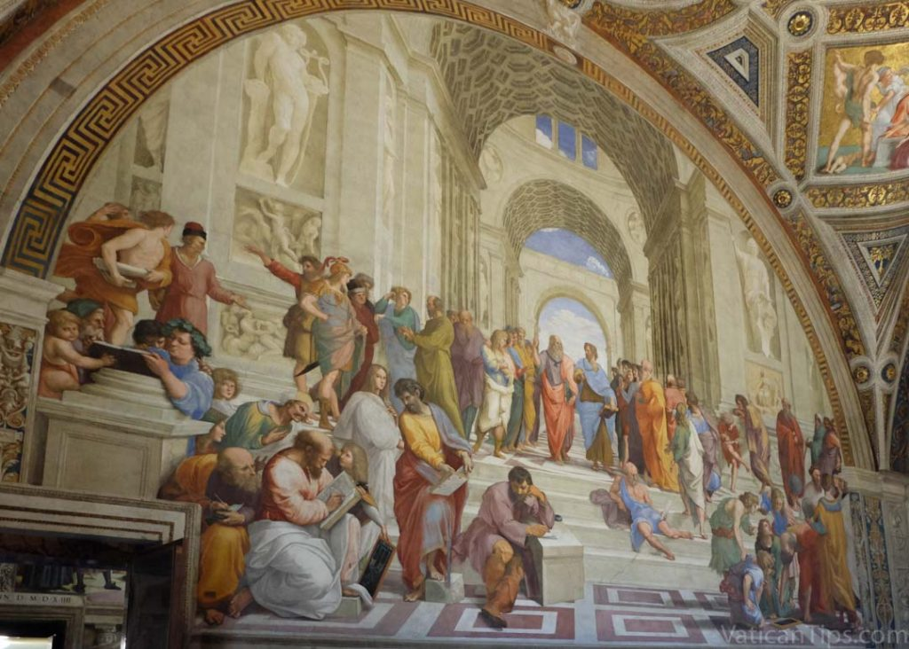 When did raphael paint the school of athens