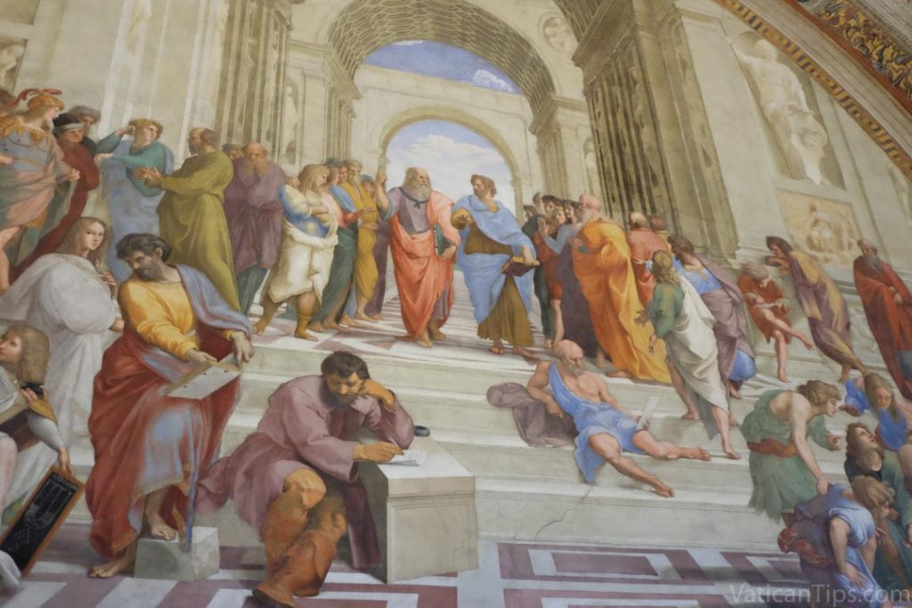 school of athens with plato and aristotle