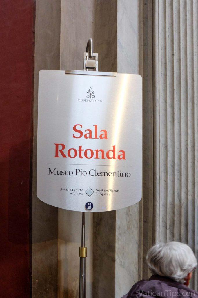 sala rotonda sign at the Vatican